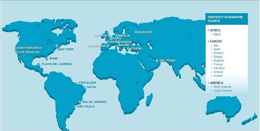 Mappa globale delle centrali in area WIRE Consulting