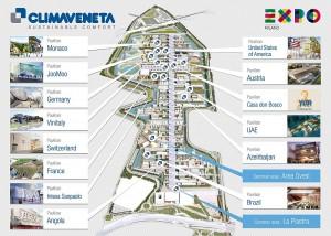piantina EXPO 2015 climatizzati Climaveneta