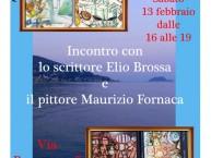 Alassio, lo scrittore Elio Brossa incontra il pittore Maurizio Fornaca