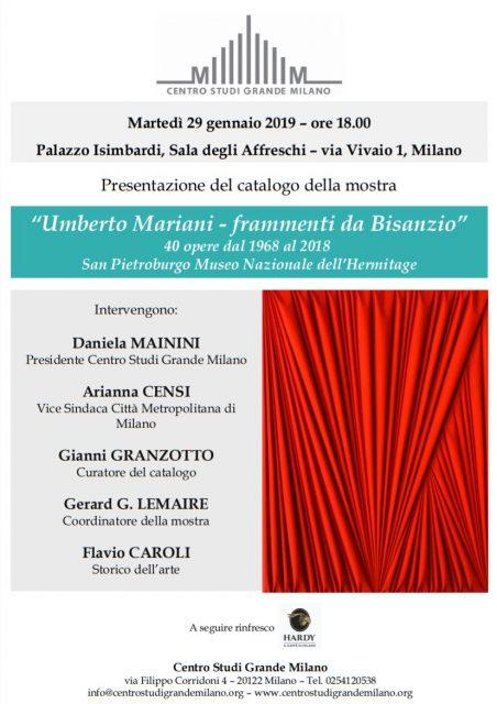 Umberto Mariani: a Milano verrà presentato il catalogo della sua imminente mostra all'Ermitage